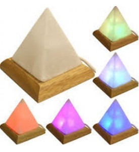 Lampada di sale dell'Himalaya Multicolor USB forma piramide